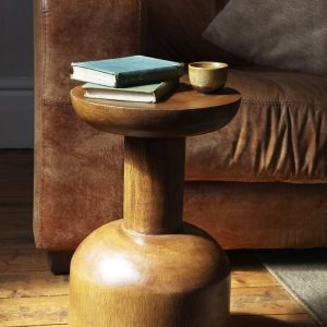 Fairtrade Acacia wood side table