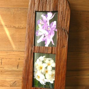 Double tall teak 6 x 4 frame