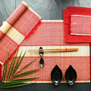 Red chopstick set