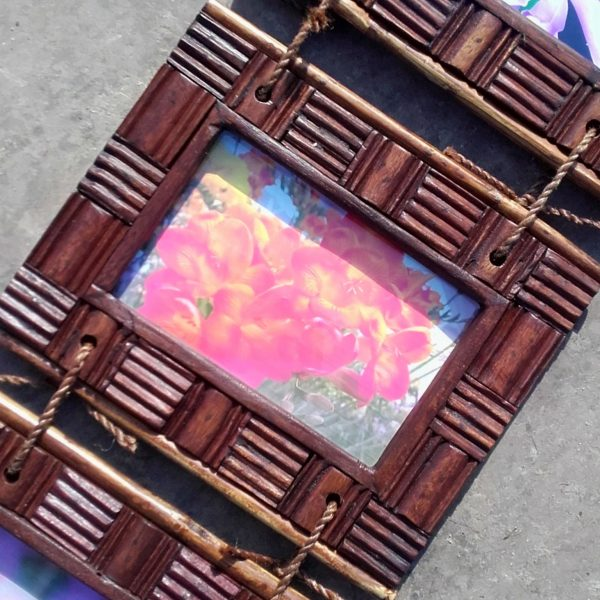 reclaimed teak 2 part photo frame