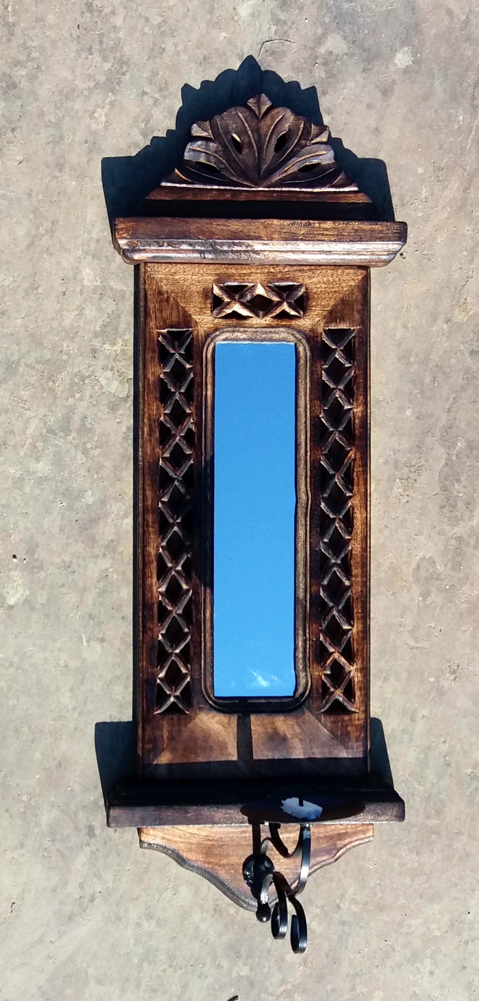 Gothic wall mounted mirror and candle holder - The Camphor ...
