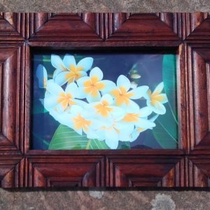 Reclaimed teal picture frame