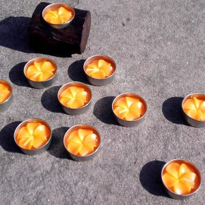 Orange t-light candles