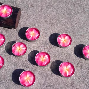 pink flower tealights