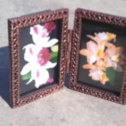 reclaimed bicyce chain photo frame