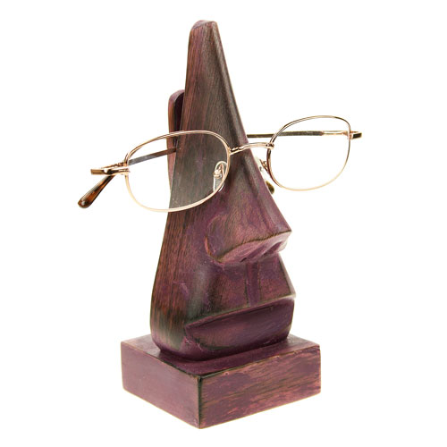 Purple nose spectacle holder
