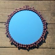 Recycled bicycle chain mirror