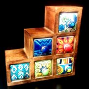 Set of six stepped ceramic spice drawers (1)