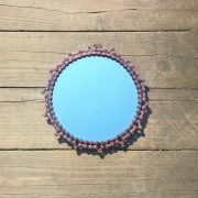 steam punk recycled chain mirror