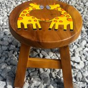 Giraffe wood stool