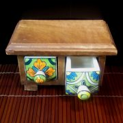 Small set of ceramic drawers