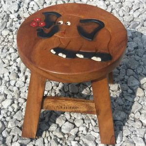 Wooden childrens stool