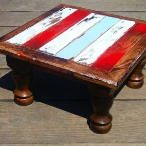 reclaimed wood painted stool 5 (1)