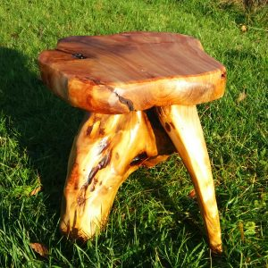 three legged root foot stool 3