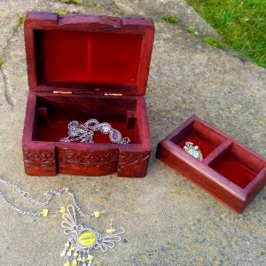 Carved wooden jewellery box 4